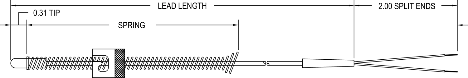 Adjustable Depth Thermocouple